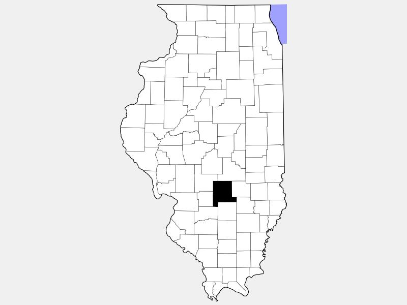 Fayette County locator map