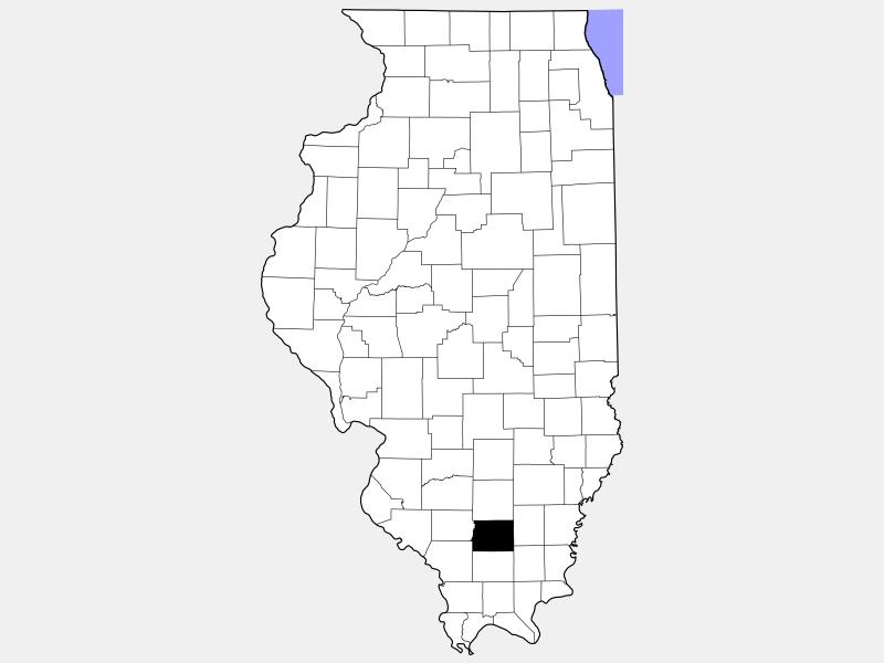 Franklin County locator map