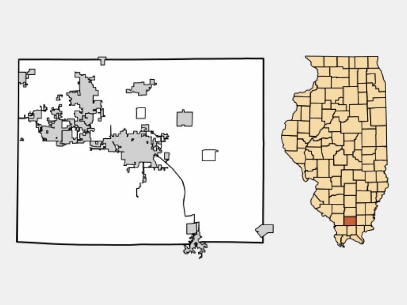 Johnston City locator map