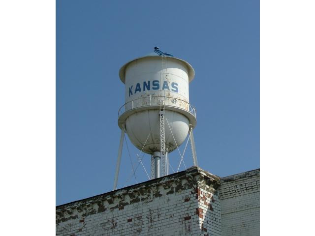 Kansas Illinois water tower image