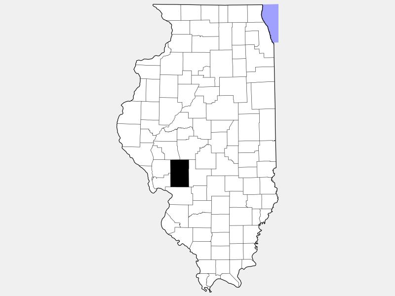 Macoupin County locator map
