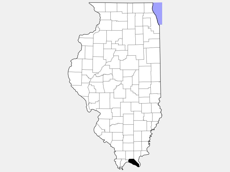 Massac County locator map