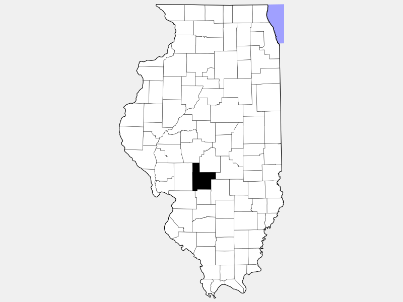 Montgomery County locator map