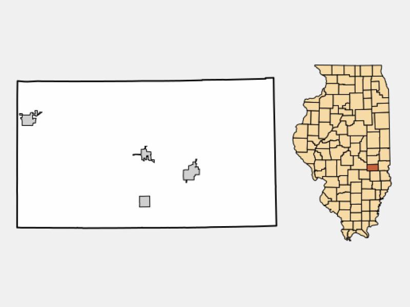 Neoga locator map