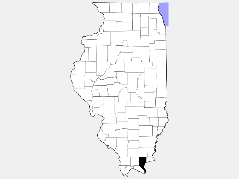 Pope County locator map
