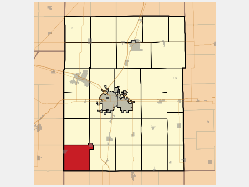 Sadorus locator map