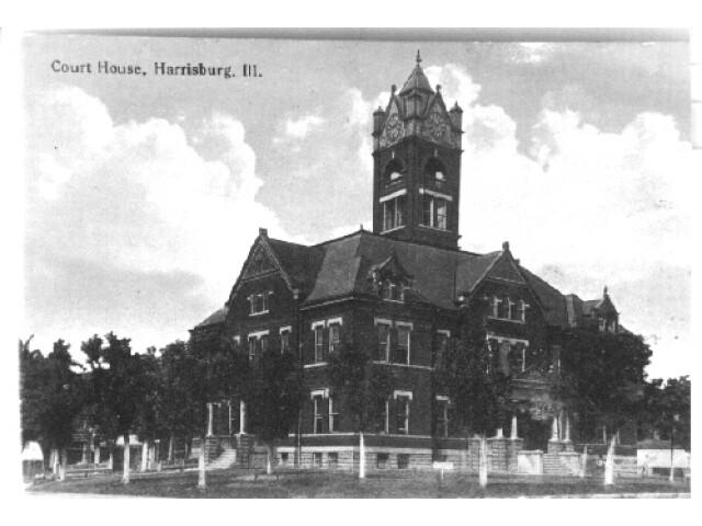 Harrisburg  IL 1917 Saline County Courthouse image