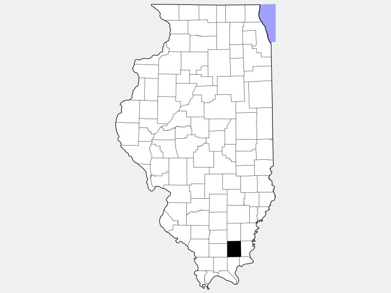 Saline County locator map