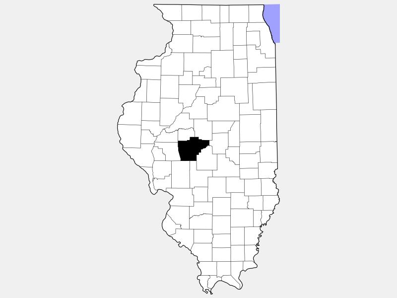 Sangamon County locator map