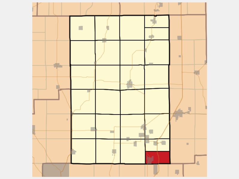 Staunton locator map