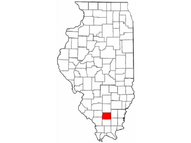 West Frankfort locator map