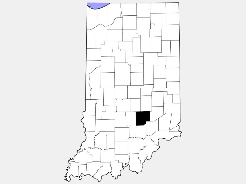 Bartholomew County locator map