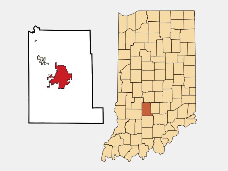 Bloomington locator map