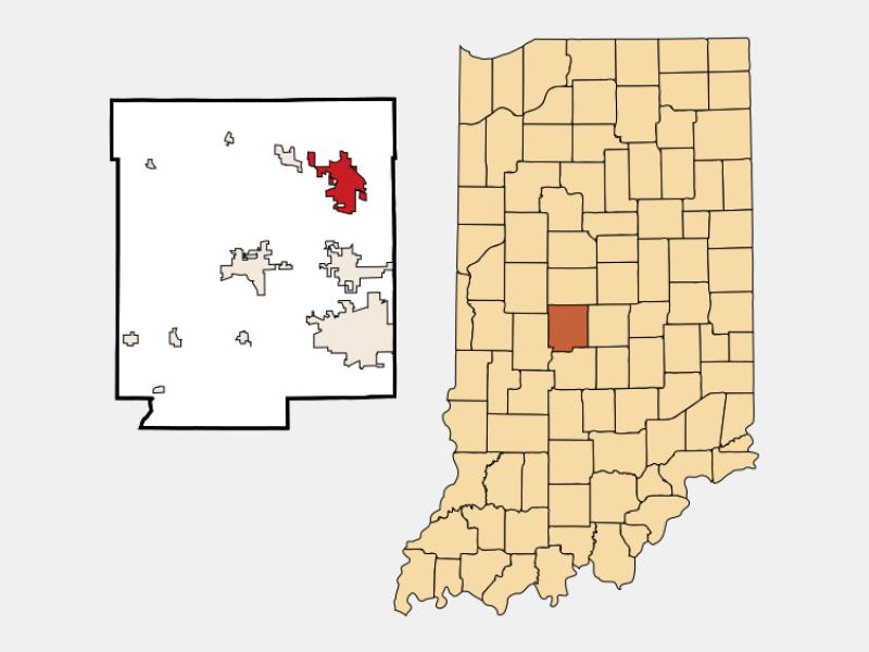 Brownsburg locator map