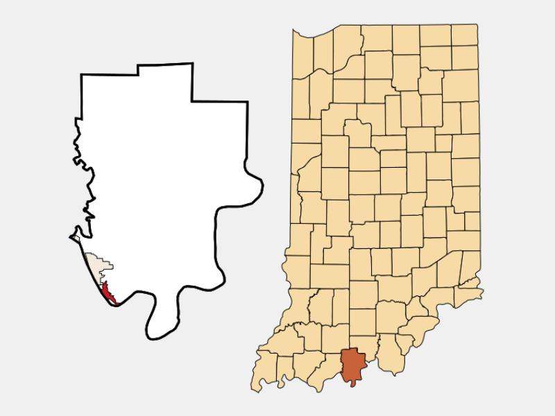 Cannelton locator map