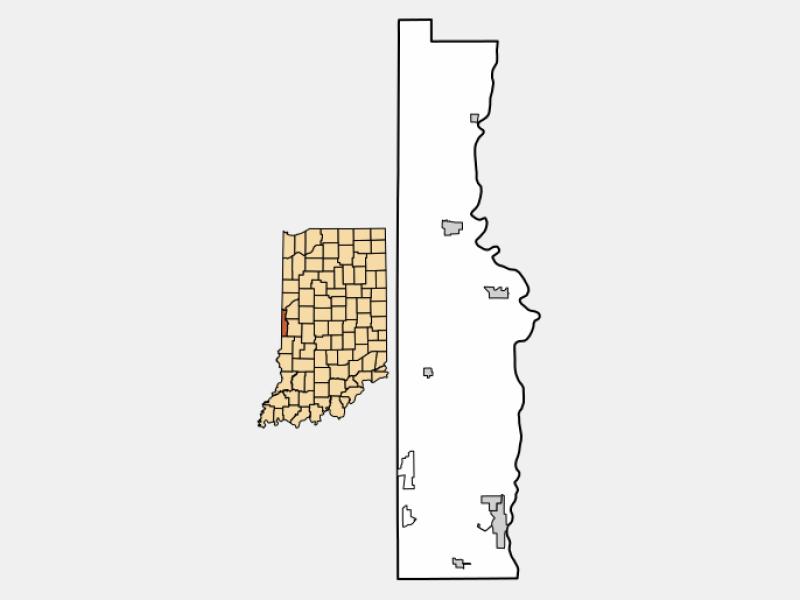 Cayuga locator map