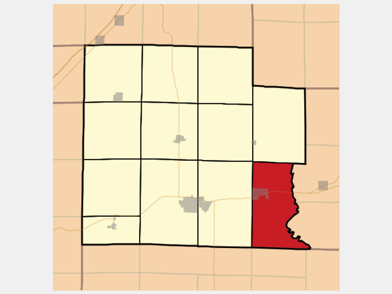 Clay City location map