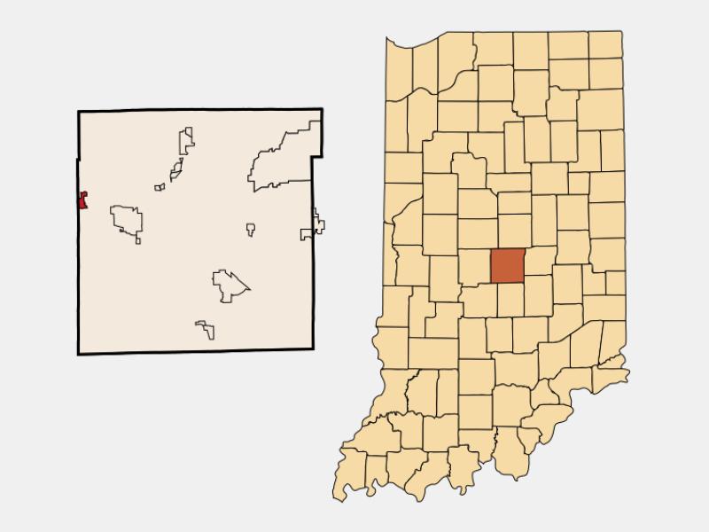 Clermont locator map