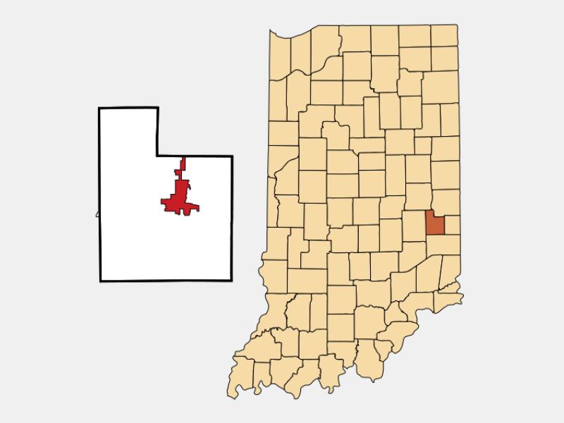 Connersville locator map