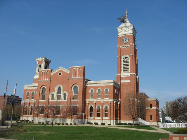 Decatur County Courthouse in Greensburg from southeast image