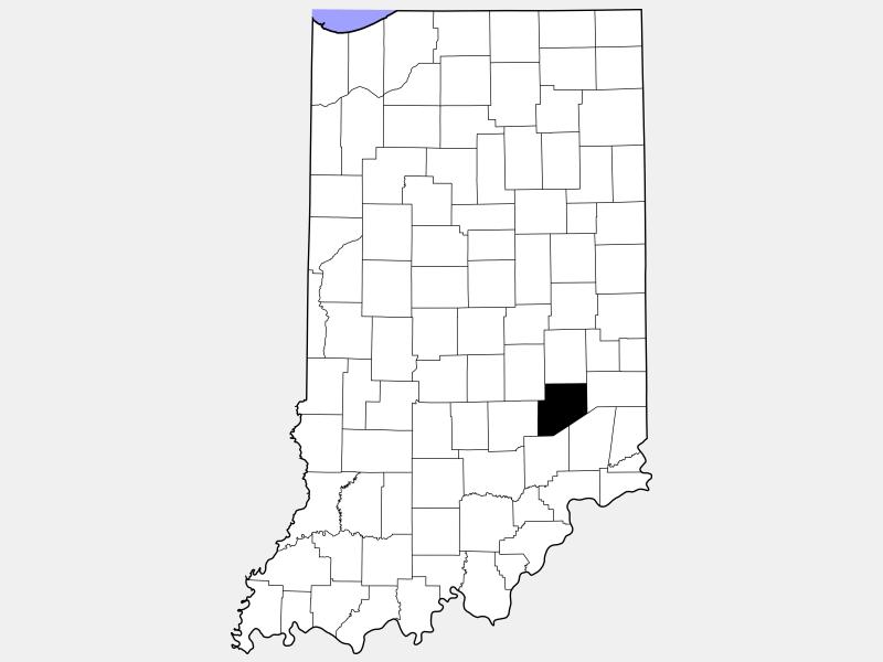 Decatur County locator map