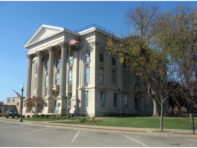 Dearborn County Courthouse from the east image