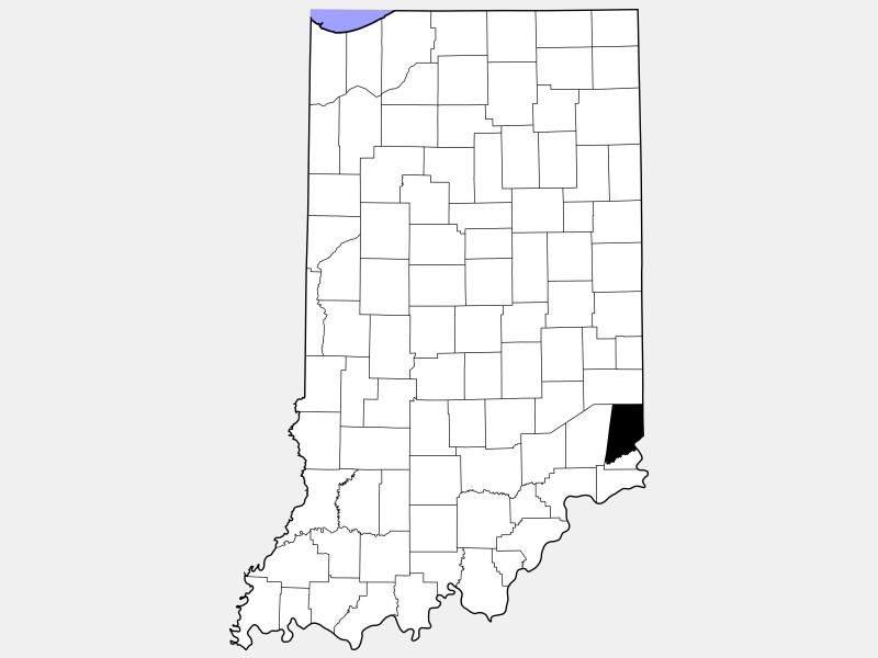 Dearborn County locator map