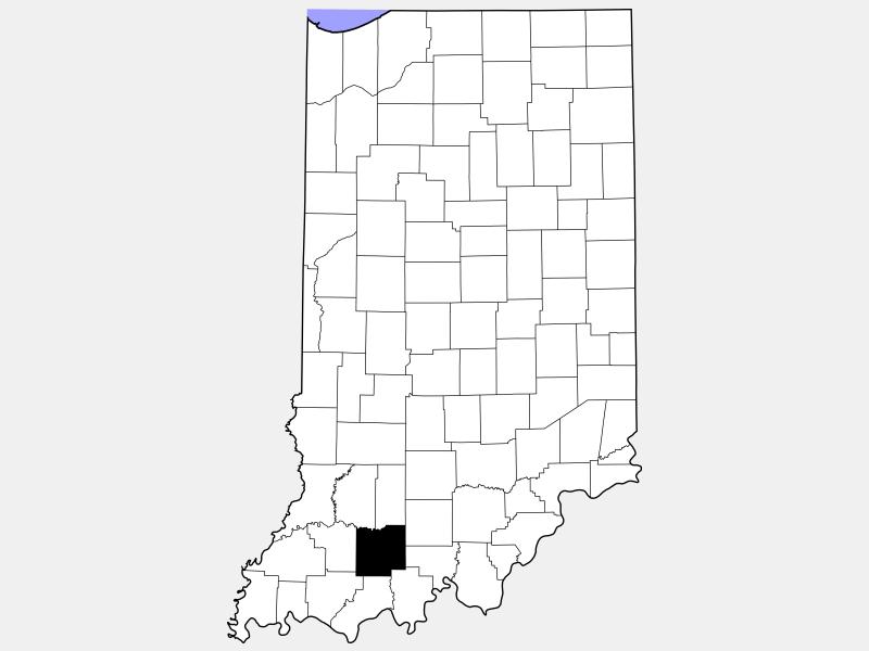 Dubois County locator map