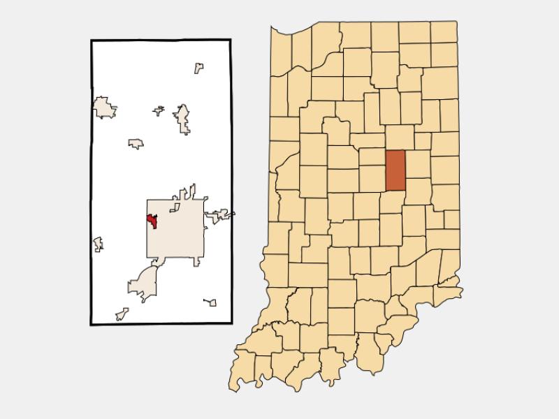 Edgewood locator map