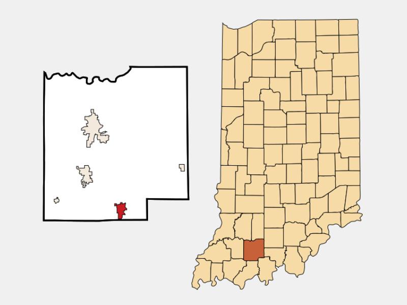 Ferdinand locator map