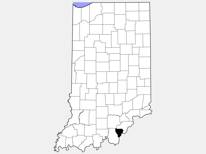 Floyd County locator map