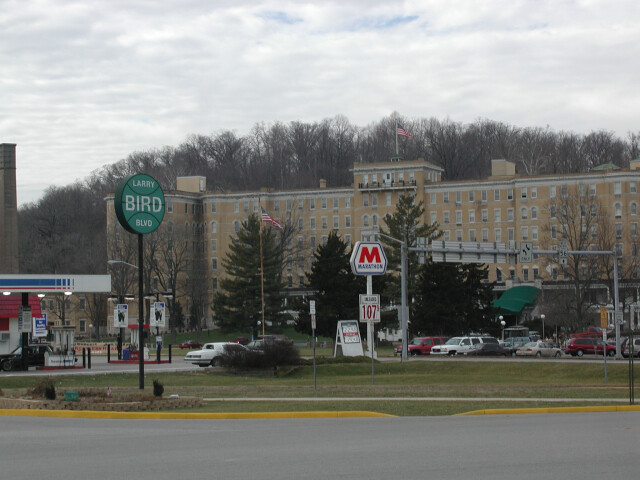 French Lick Resort and Larry Bird Boulevard  French Lick  Indiana 01-13-2002 image