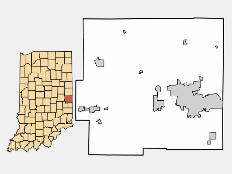 Greens Fork locator map