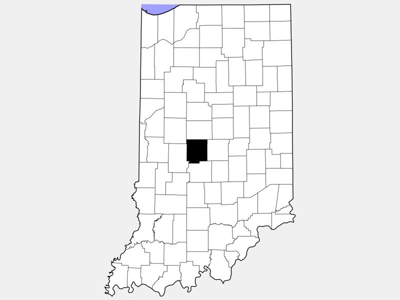 Hendricks County locator map