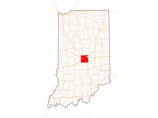 Indianapolis, IN locator map