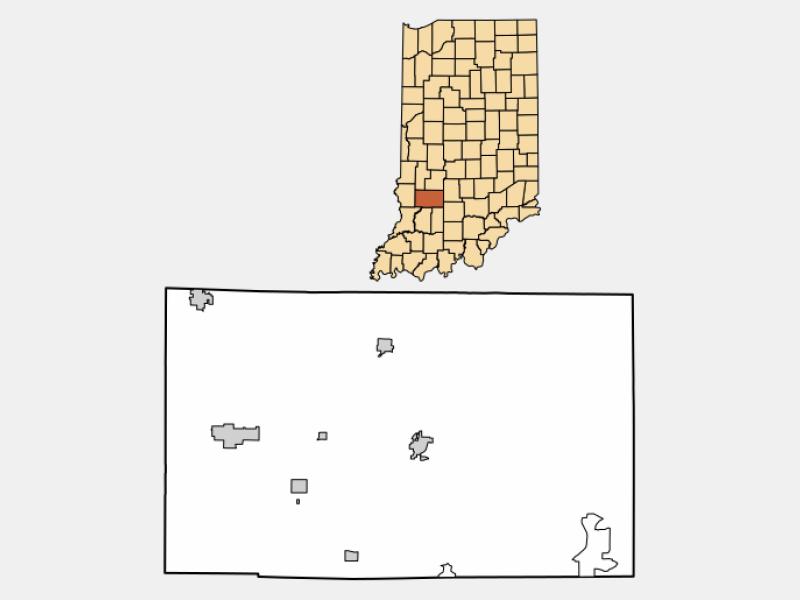 Jasonville locator map