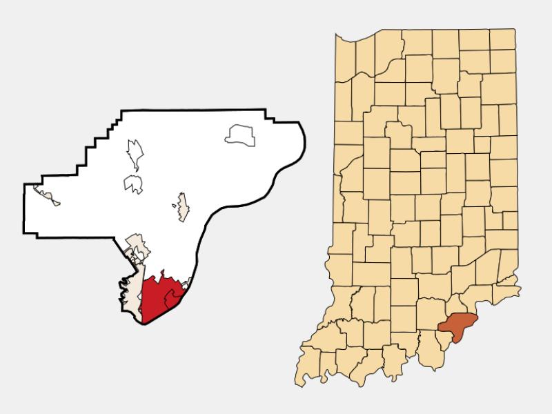 Jeffersonville locator map