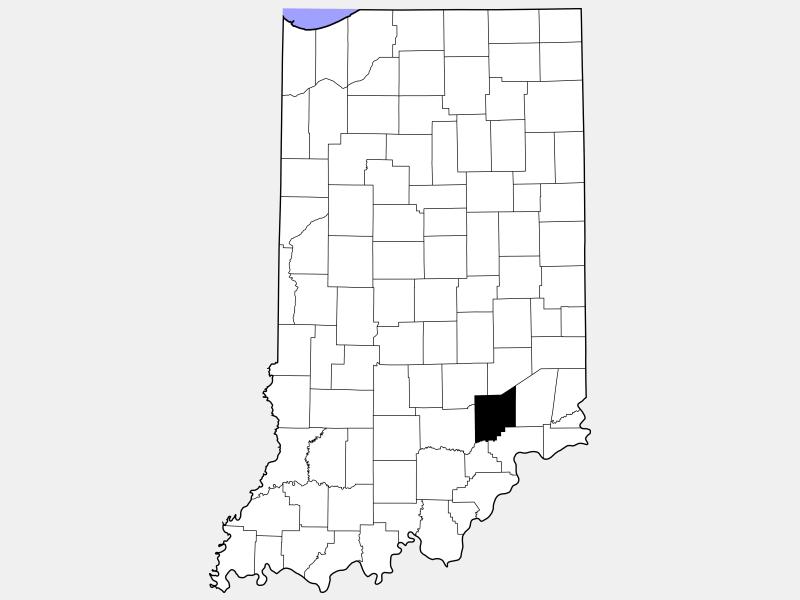 Jennings County locator map