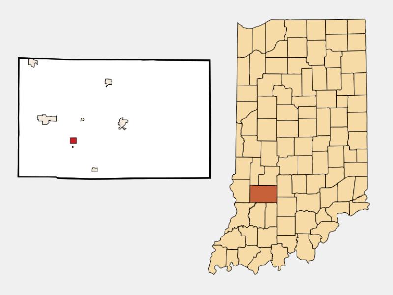 Lyons location map