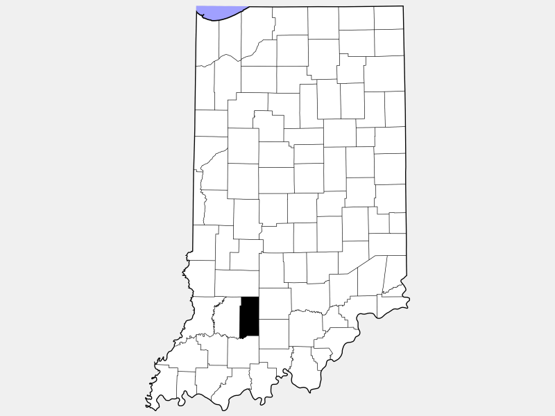 Martin County locator map