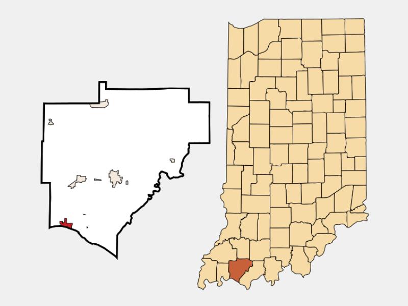 Newburgh locator map