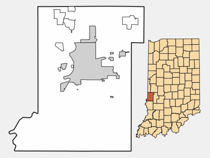 North Terre Haute locator map