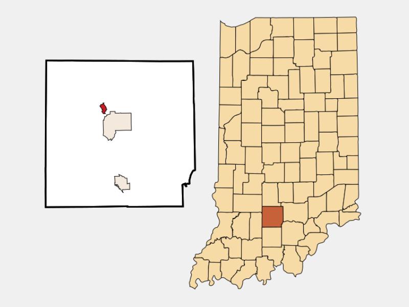 Oolitic location map