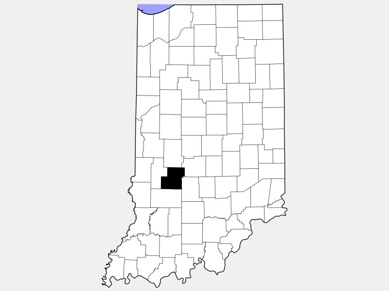 Owen County locator map