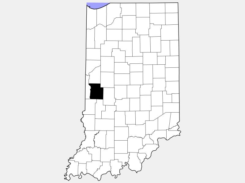 Parke County locator map