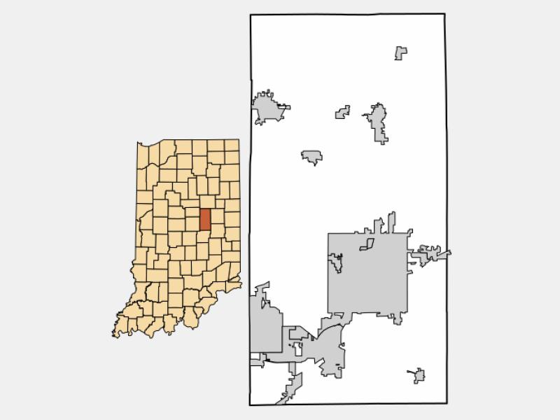Pendleton locator map