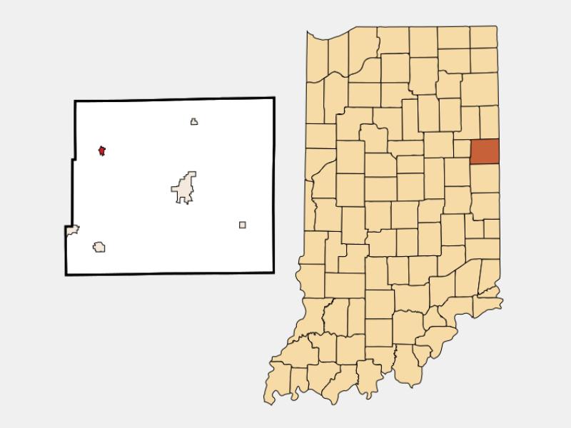 Pennville locator map