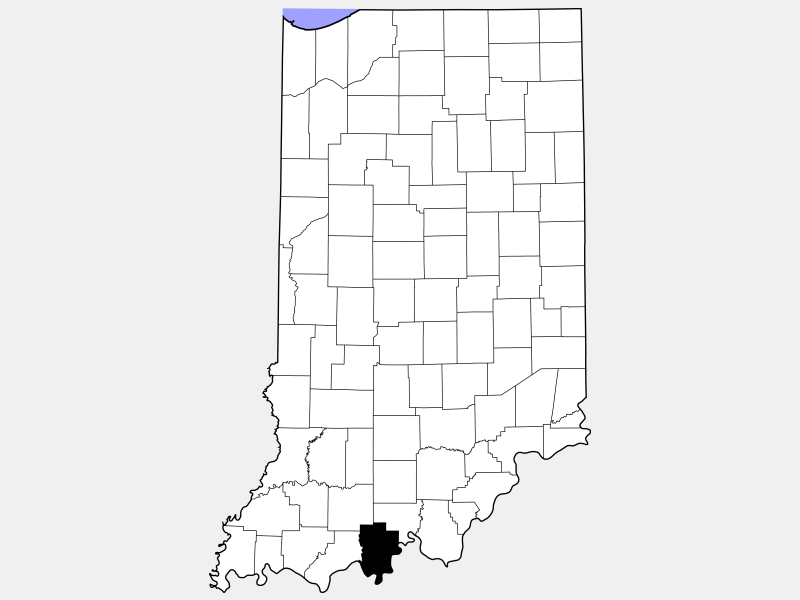 Perry County locator map