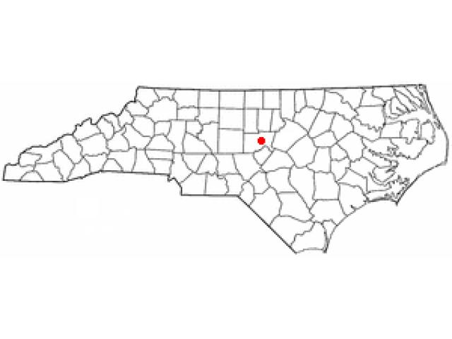 Pittsboro locator map
