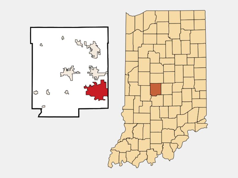 Plainfield locator map